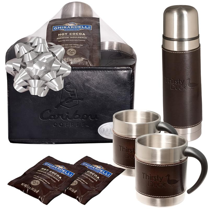 Empire Thermal Bottle & Cups Ghirardelli® Cocoa Set