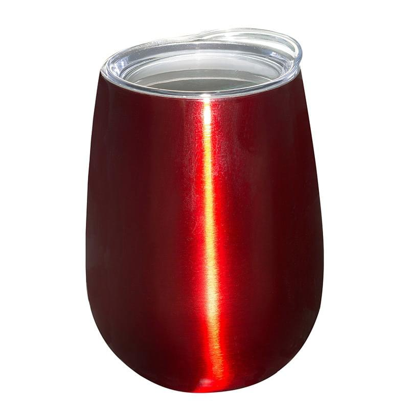 10 oz. Stemless Vacuum Wine Tumbler with Lid