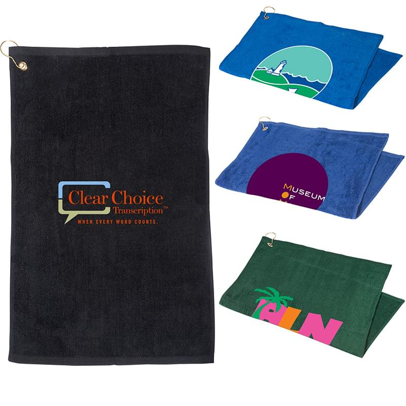 Golf Towel with Grommet and Hook (16 x 25)