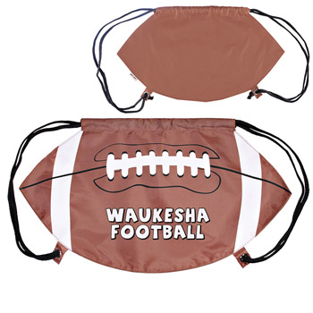 GameTime!® Football Drawstring Backpack