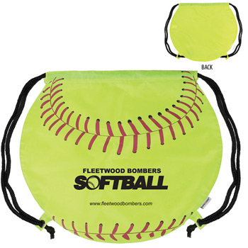 GameTime!® Softball Drawstring Backpack