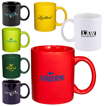 11 oz. Basic C-Handle Ceramic Mug - Colors