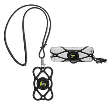 Security Phone Strap & Phone Holder & Lanyard (Combo made of IT413 + silicone lanyard)
