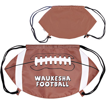 GameTime! Football Drawstring Backpack