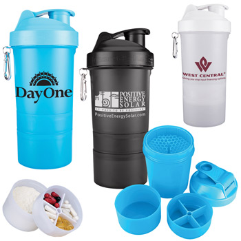 20 oz. SmartShake Original Compartment Fitness Shaker