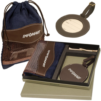 Woodbury Golf Pouch/Tag Set