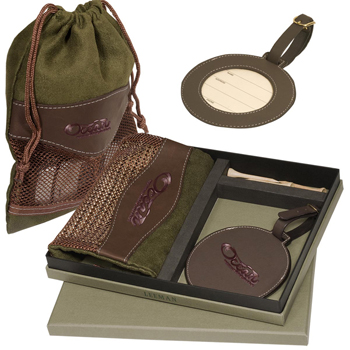 Woodbury™ Golf Pouch/Tag Set