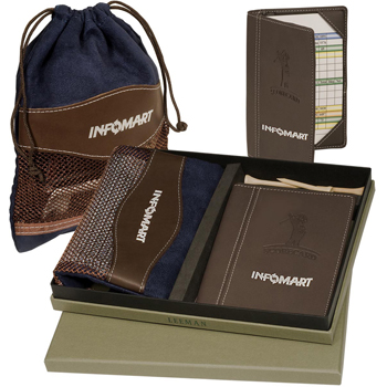 Woodbury Golf Pouch/Scorecard Set