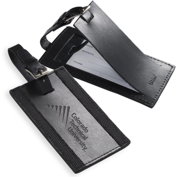 Majestic™ Leather Luggage Tag