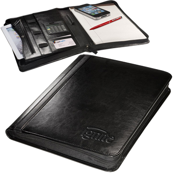Alpha Zip-Around Portfolio with Tablet Case and Calculator