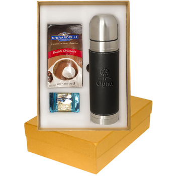 Tuscany Thermos & Ghirardelli Deluxe Gift Set