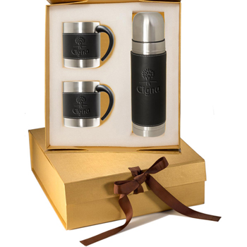 Tuscany Thermos & Coffee Cups Gift Set