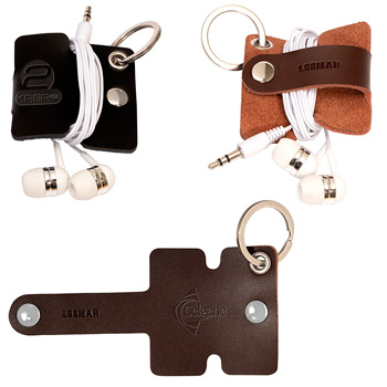 Leeman™ Genuine Leather Cord Organizer with Snap