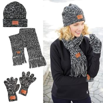Leeman™ 3-in-1 Heathered Knit Winter Set