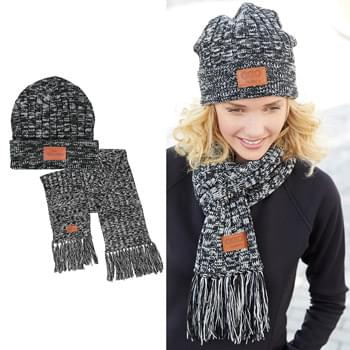 HOT DEAL - Leeman™ 2-in-1 Heathered Knit Winter Set