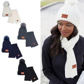 HOT DEAL - Leeman™ Ribbed Knit Winter Duo