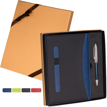 Naples Two-Tone Journal & Pen Gift Set