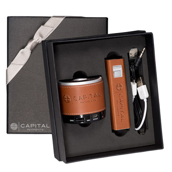 HOT DEAL - Tuscany™ Power Bank and Wireless Speaker Gift Set