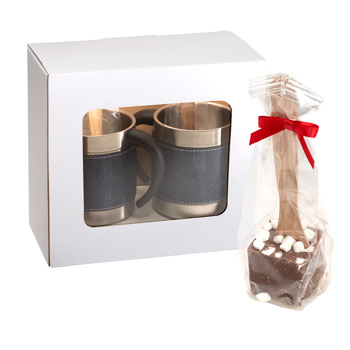 Casablanca™ Coffee Cups and Hot Chocolate in a Spoon Gift Set