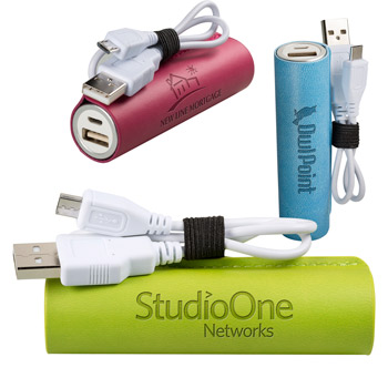 Tuscany™ Cylinder Power Bank - UL Certified