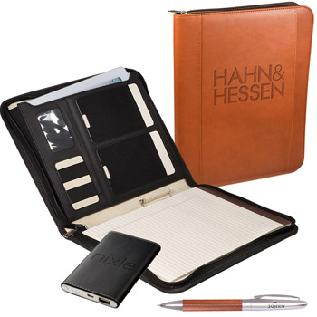 Tuscany™ Mobile Portfolio Power Bank & Pen Set