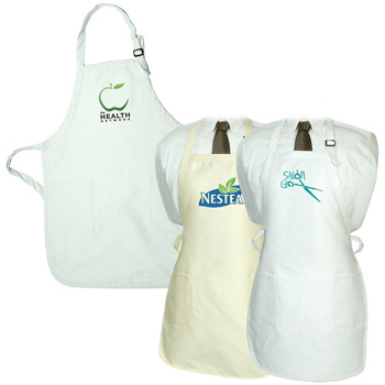 Gourmet Apron with Pockets – Natural and White