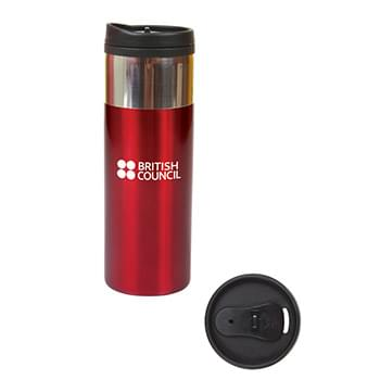 14 oz. Chrome Band Tumbler