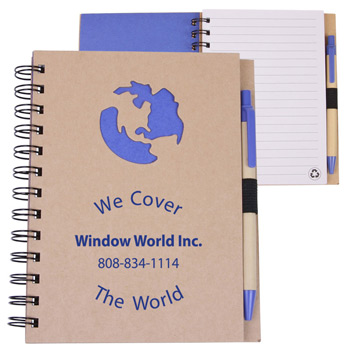 EcoShapes Recycled Die Cut Notebook: Globe