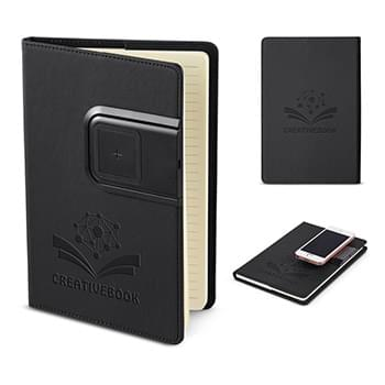 Refillable Journal with Wireless Charging Panel