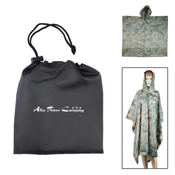 Digital Camo Poncho in Pouch