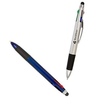Quad Color-Write Pen with Stylus