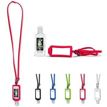 Hand Sanitizer with Silicone Lanyard & Holder - 1 oz.