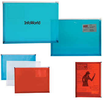 Polypropylene Zip Closure Envelope with Business Card Slot