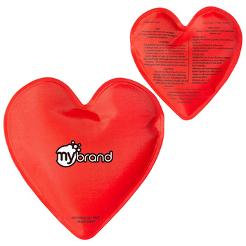 Heart Nylon Covered Gel Hot/Cold Pack