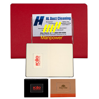 Clear Business Card Holder with Adhesive Backing
