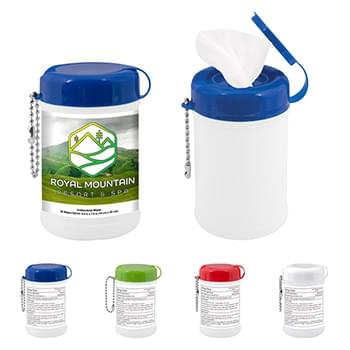 Mini Canister of Wet Wipes - 30 pc.