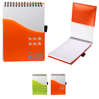 Polypropylene Two-Tone Dot Jotter