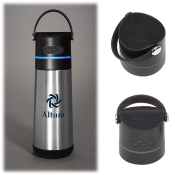 16 oz. Vacuum Bottle Wireless Speaker