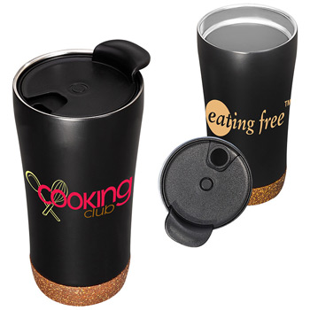 16 oz. Double-Wall Vacuum Tumbler with Cork Base