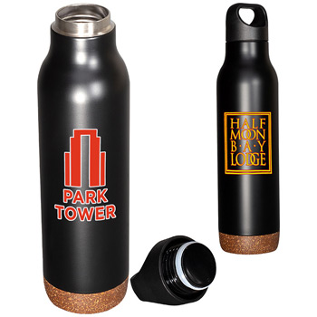 20 oz. Double-Wall Vacuum Bottle with Cork Base