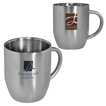 12 oz. Double-Wall Stainless Steel Coffee Mug