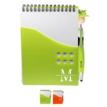 Two-Tone Jotter with MopToppers® Stylus Pen