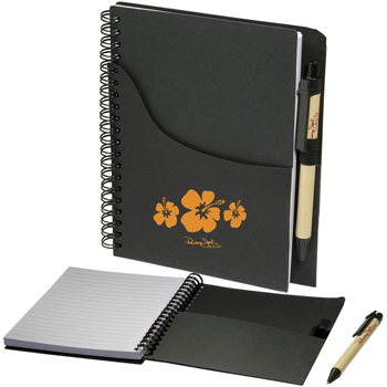 Eco Handy Jotter with Pocket/Pen Combo