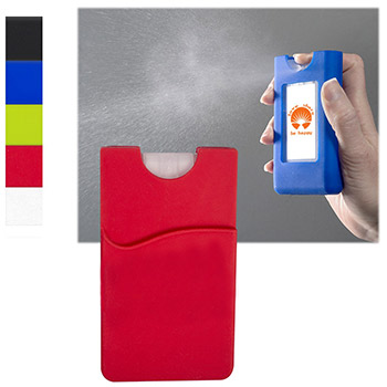 Silicone Wallet Sleeve with Sanitizer - 0.67 oz.