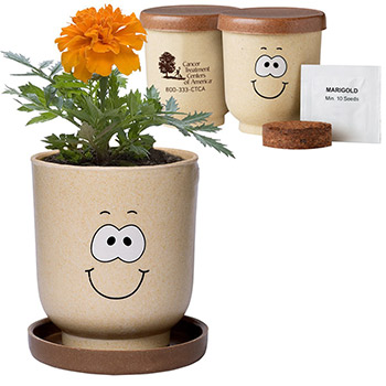 Goofy Group™ Grow Pot Eco-Planter with Marigold Seeds