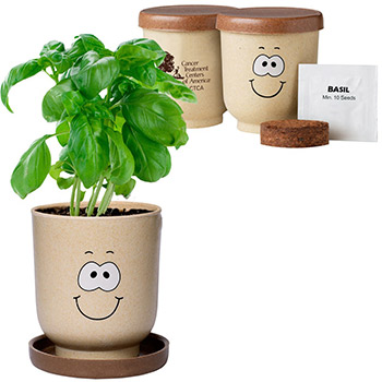 Goofy Group™ Grow Pot Eco-Planter with Basil Seeds
