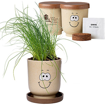 Goofy Group™ Grow Pot Eco-Planter with Chive Seeds