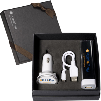 Econo Battery & Car Charger Set