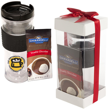 Cool Gear Mason Coffee Tumbler & Ghirardelli Cocoa Set