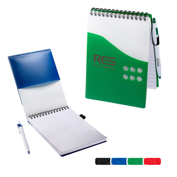 Two-Tone Jotter with Pen